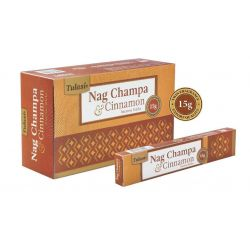 Tulasi Nag Champa and Cinnamon Incense 15 Sticks