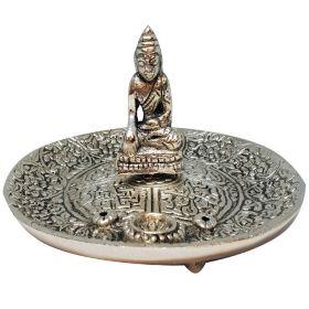 Buddha Aluminium Incense Burner - 12cm