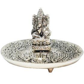 Ganesha Aluminium Incense Burner - 6cm