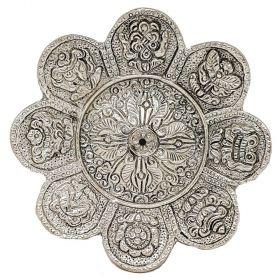 8 Auspicious Symbols Aluminium Incense Burner 11.5cm
