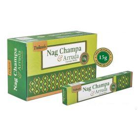 Tulasi Nag Champa and Arruda Incense 15 Sticks