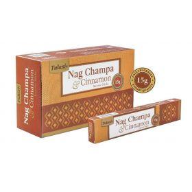 Tulasi Nag Champa and Cinnamon Incense 15 Sticks