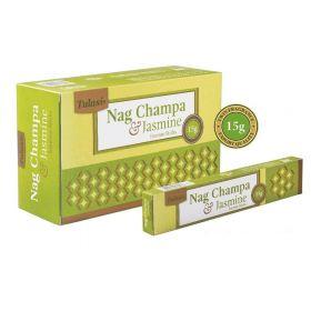 Tulasi Nag Champa and Jasmine Incense 15 Sticks