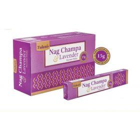 Tulasi Nag Champa and Lavender Incense 15 Sticks
