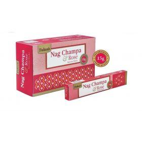 Tulasi Nag Champa and Rose Incense 15 Sticks