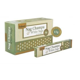 Tulasi Nag Champa and White Sage Incense 15 Sticks