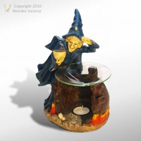 Witch Oil Burner - Blue