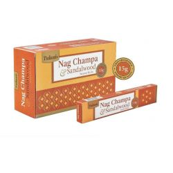 Tulasi Nag Champa and Sandalwood Incense 15 Sticks
